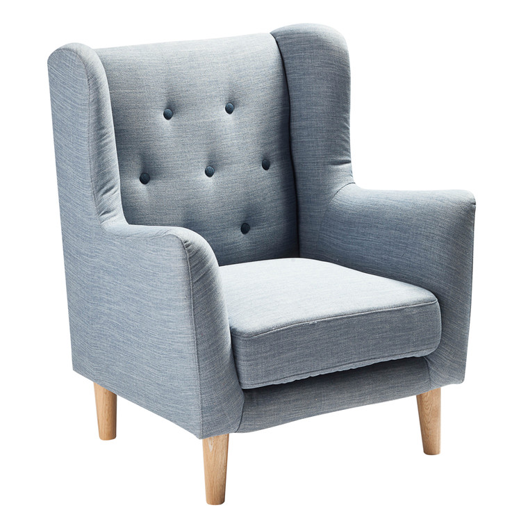 KEY WEST lounge stol blå
