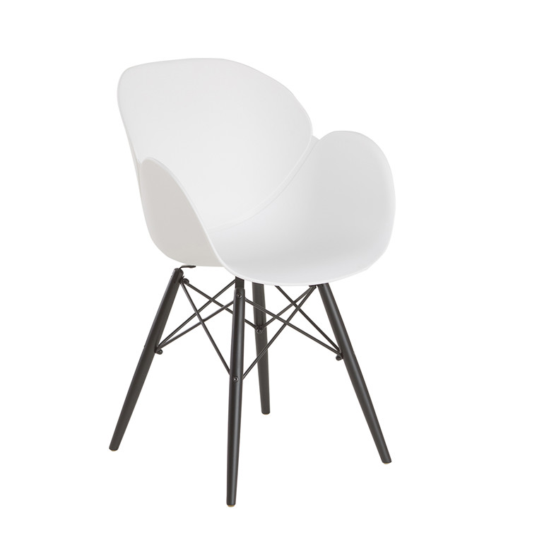 EDGE spisebordsstol hvid/Sort