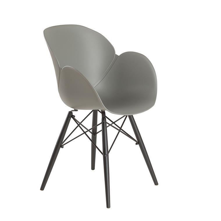 EDGE spisebordsstol grå/sort