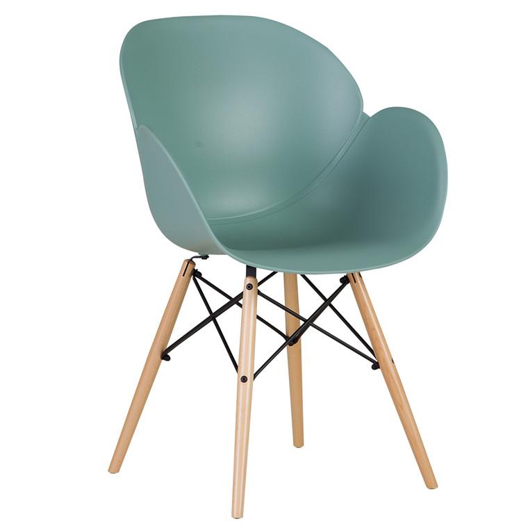 EDGE spisebordsstol støvet grøn/natur