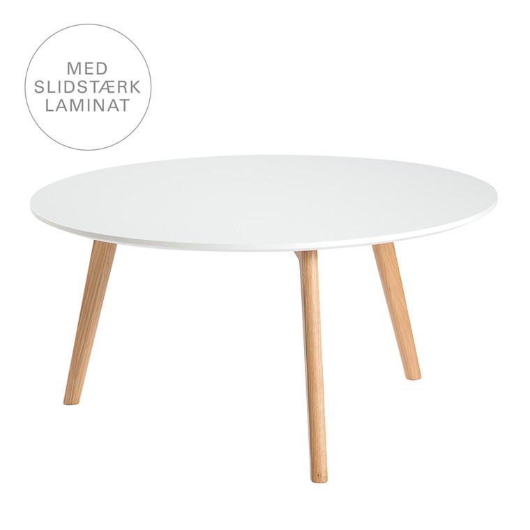 BLOOM sofabord i laminat hvid Ø 80 cm