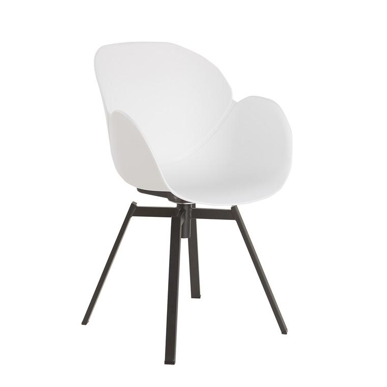 CURVE spisebordsstol hvid