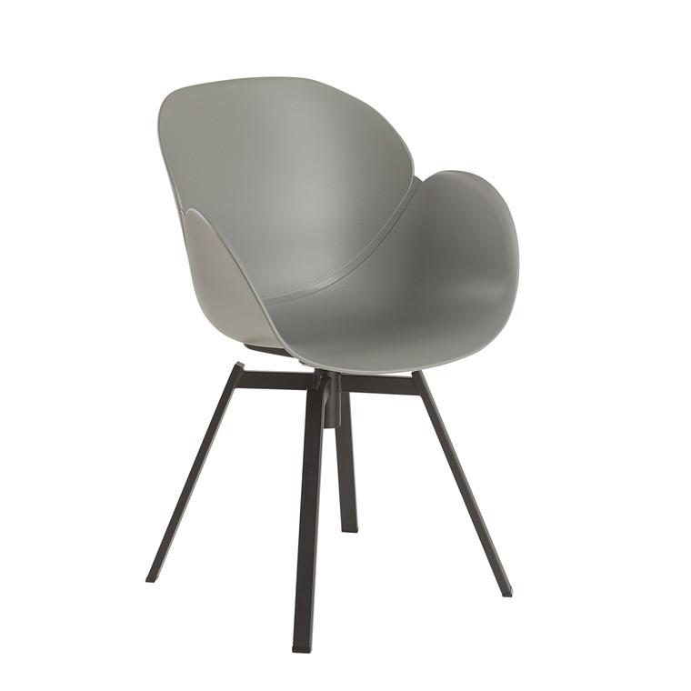 CURVE spisebordsstol grå