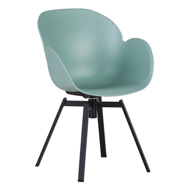 CURVE spisebordsstol støvet grøn