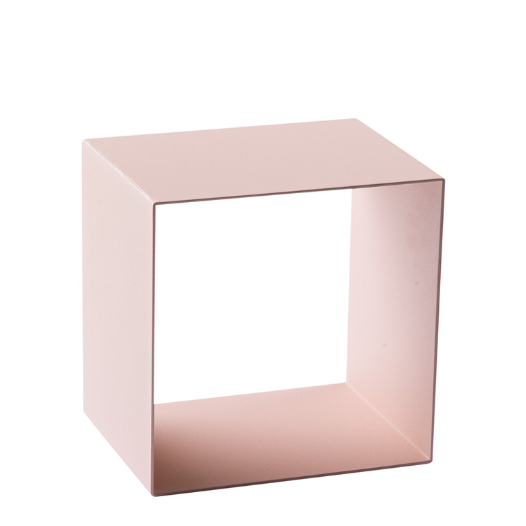 SHAPE IT metalbogkasse rosa 23 x 23 x 18 cm