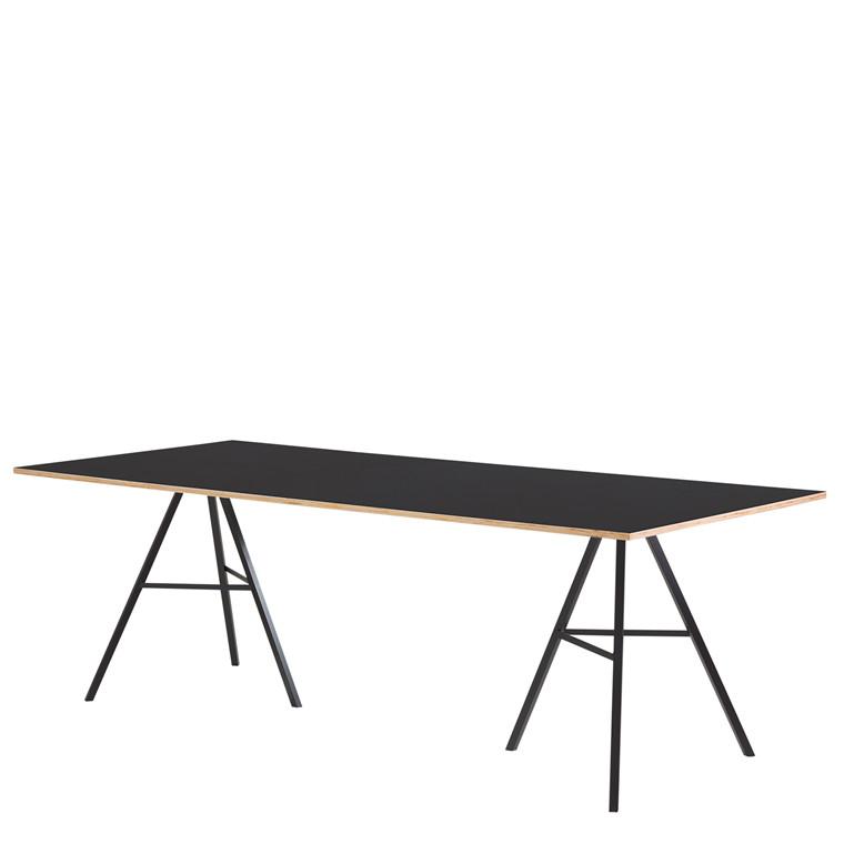 LIAM spisebord 200 x 90 cm sort