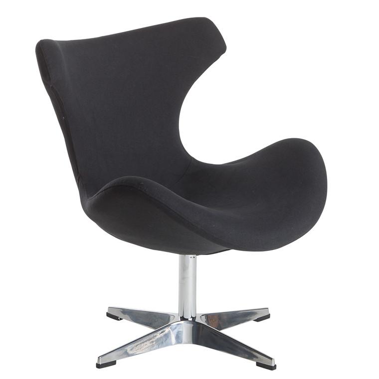 KATO loungestol med drejestel sort