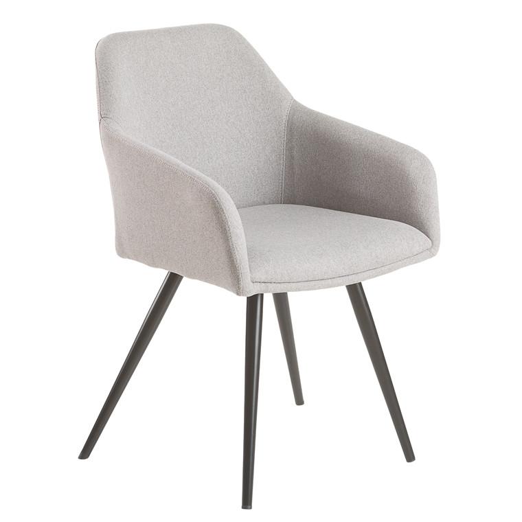 FILIPPA spisebordsstol lys grå