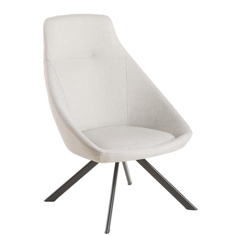 VIGGA loungestol lys grå