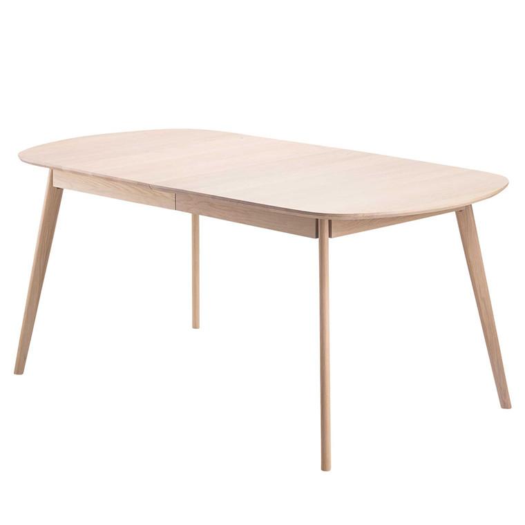 BLOOM spisebord med udtræk egetræ 175-255 x B 90 cm