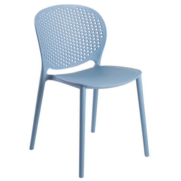 OLIVIA plastikstol blå