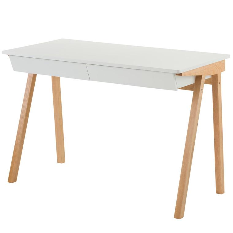 ZIVO skrivebord m skuffe hvid