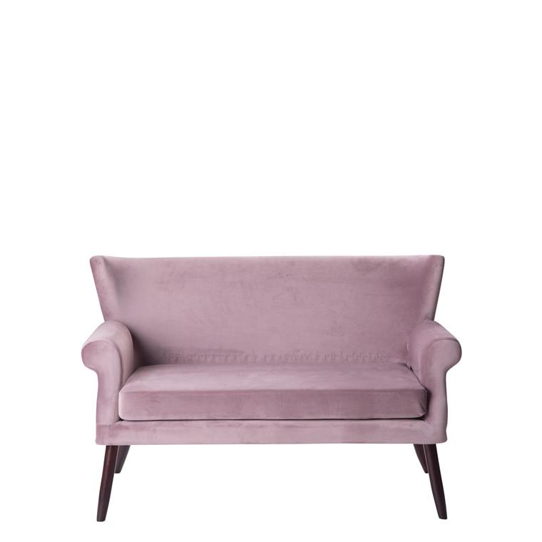 LONDON velour sofa dusty puple