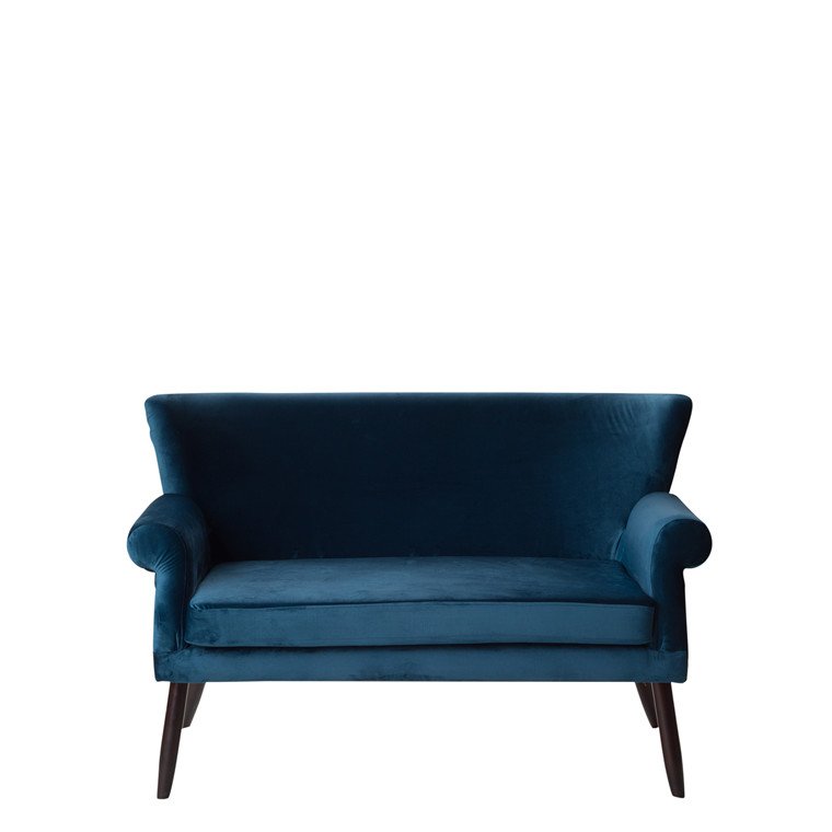 LONDON velour sofa petrolblå