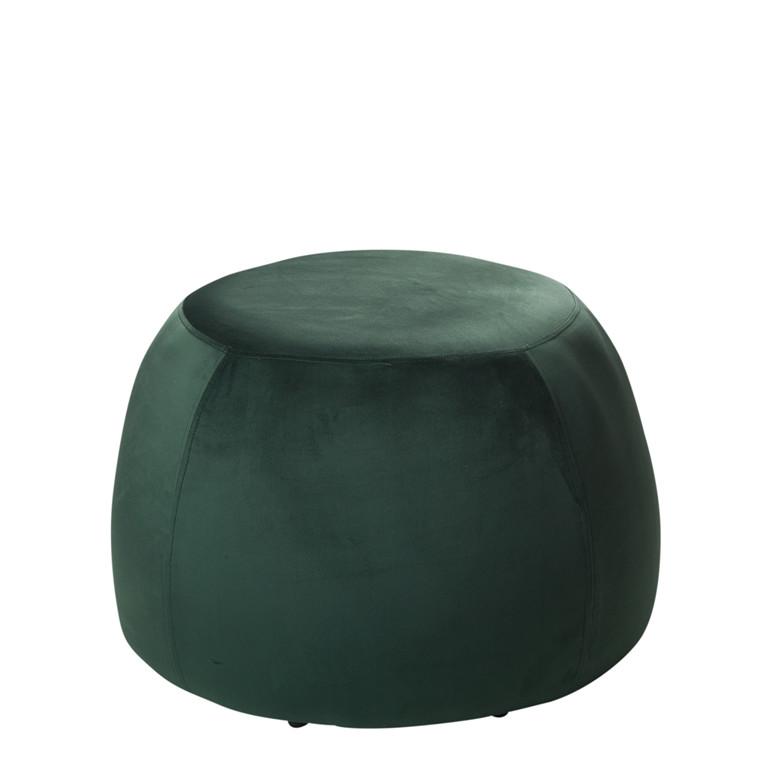 PERTH velour puf grøn