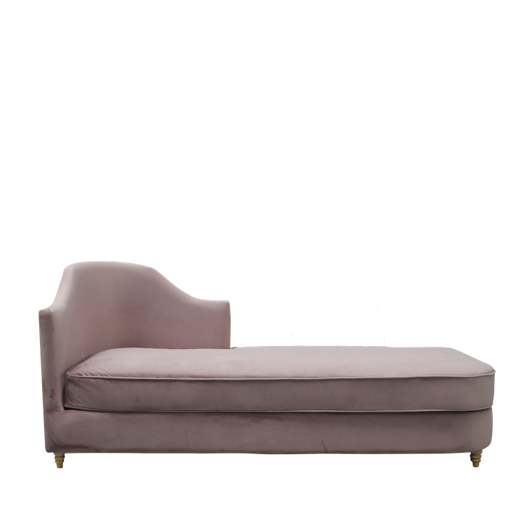 MONACO velour chaise lounge dusty purple