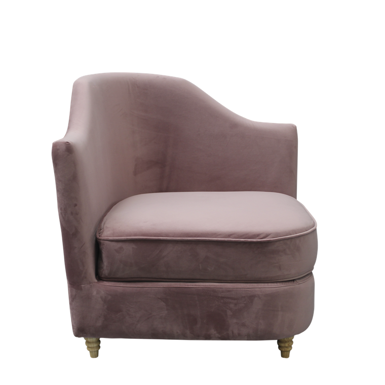 MONACO velour hjørnestol dusty purple
