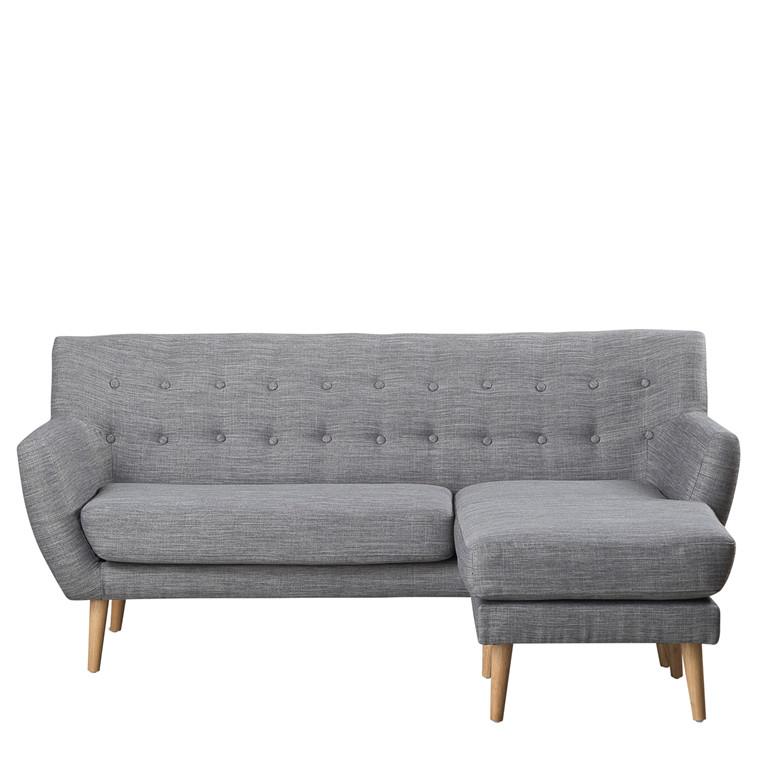 MIAMI chaiselong højrevendt grå