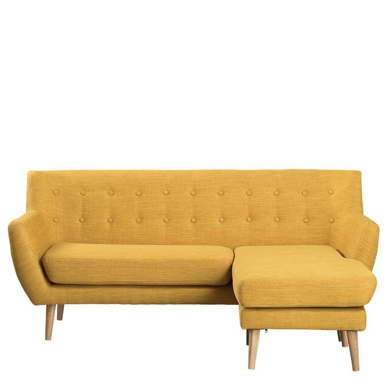 MIAMI chaiselong højrevendt gul