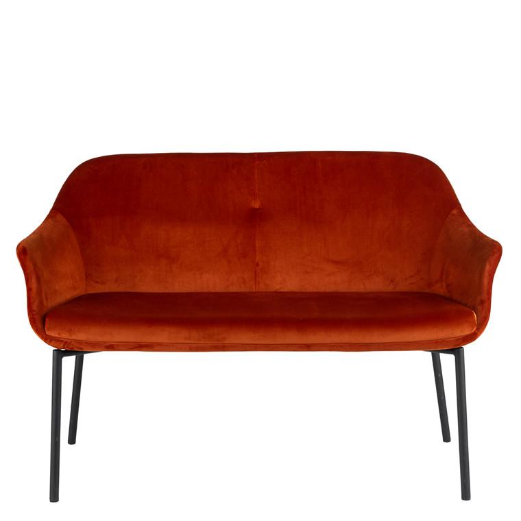 NEW AGE 2 pers. sofa rust velour // På lager midt Maj