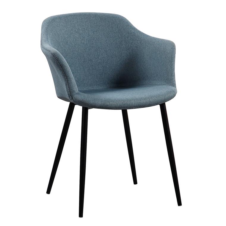 ELLIPSE blå stof stol