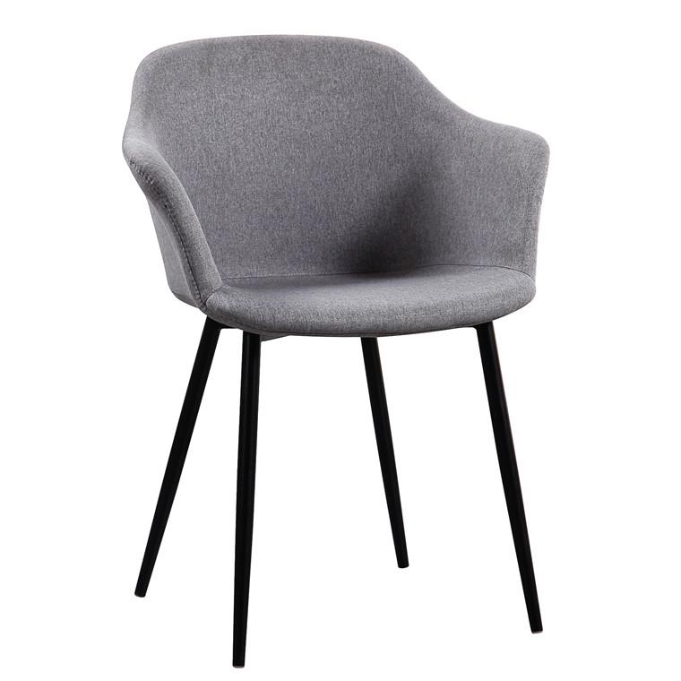 ELLIPSE grå stof stol