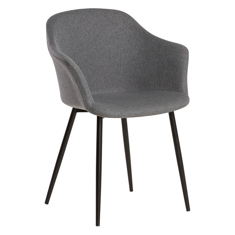 ELLIPSE mørkegrå stof stol