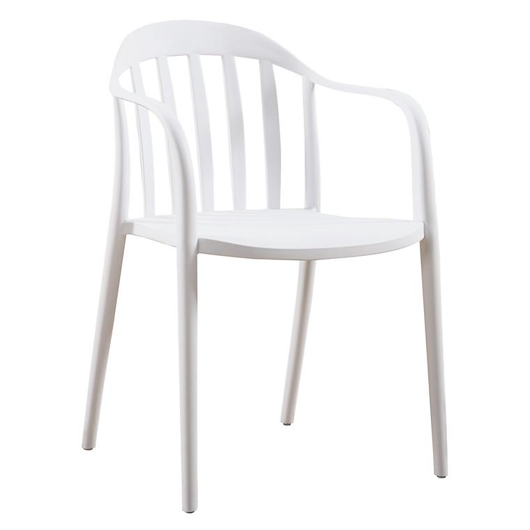 ADELE plaststol/havestol hvid