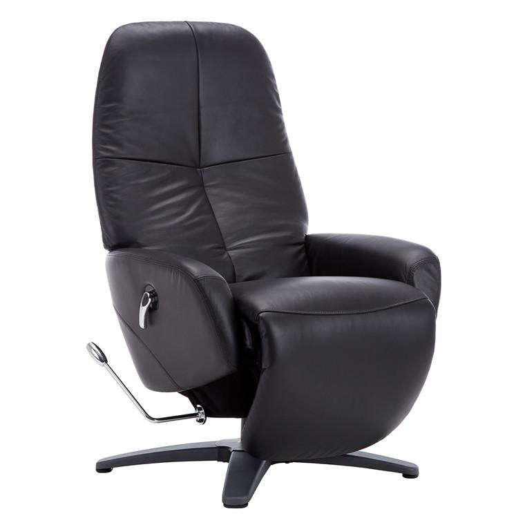 COMFY loungestol i sort læder