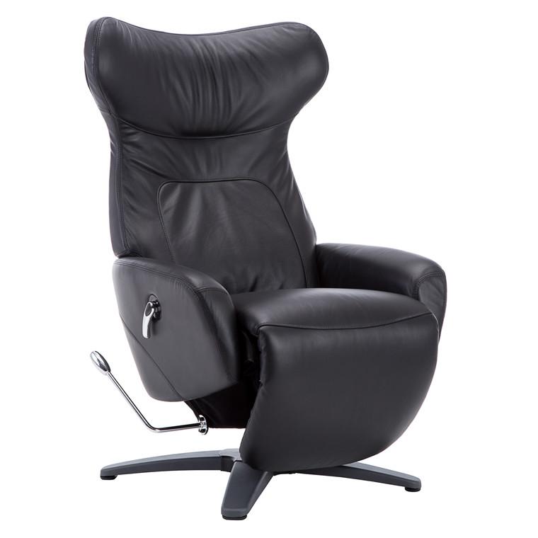 COMFY loungestol m. øre i sort læder