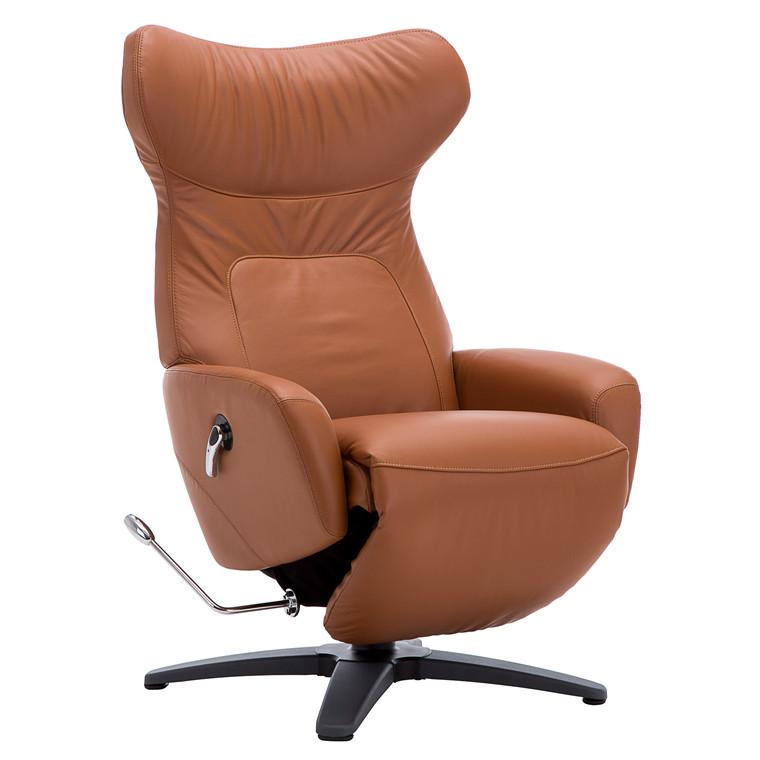 COMFY loungestol m. øre i cognac læder