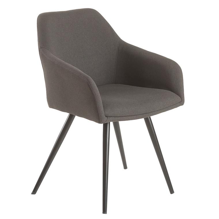 FILIPPA spisebordsstol mørk grå