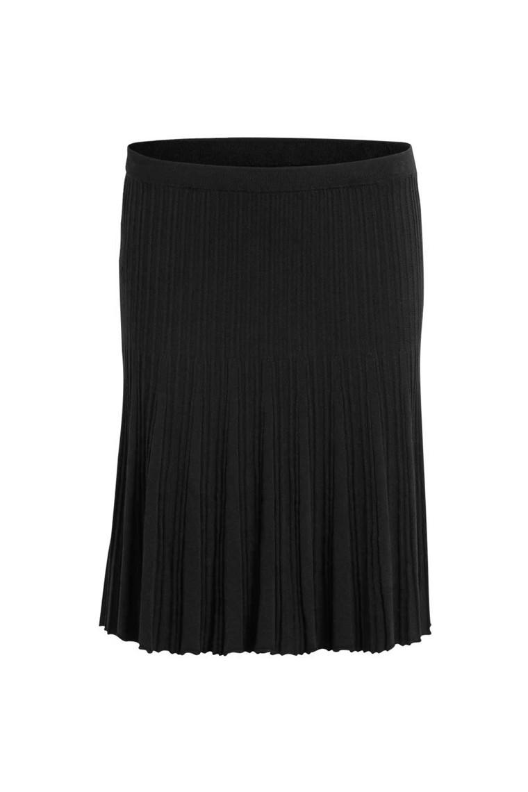 VILA Vinow knit skirt sort