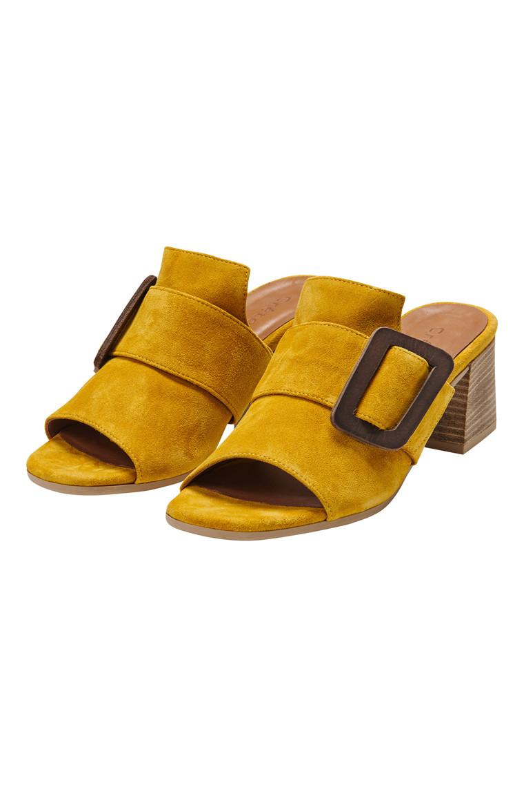 CRÉTON Chanett sandal med læder spænd