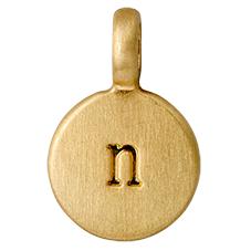 """PILGRIM Pendants """"N"""" guld vedhæng"""