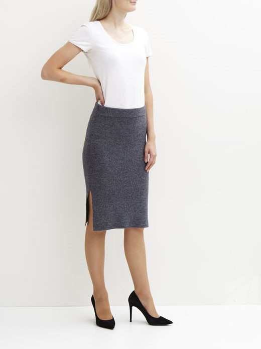 VILA Violympa knit skirt ebony