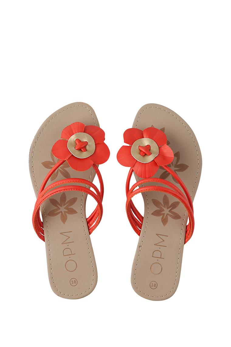 OPM Flower flip-flop sandal