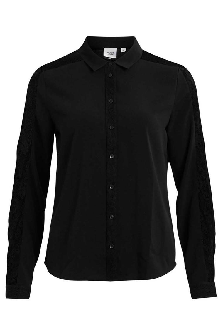 OBJECT Cam long shirt sort