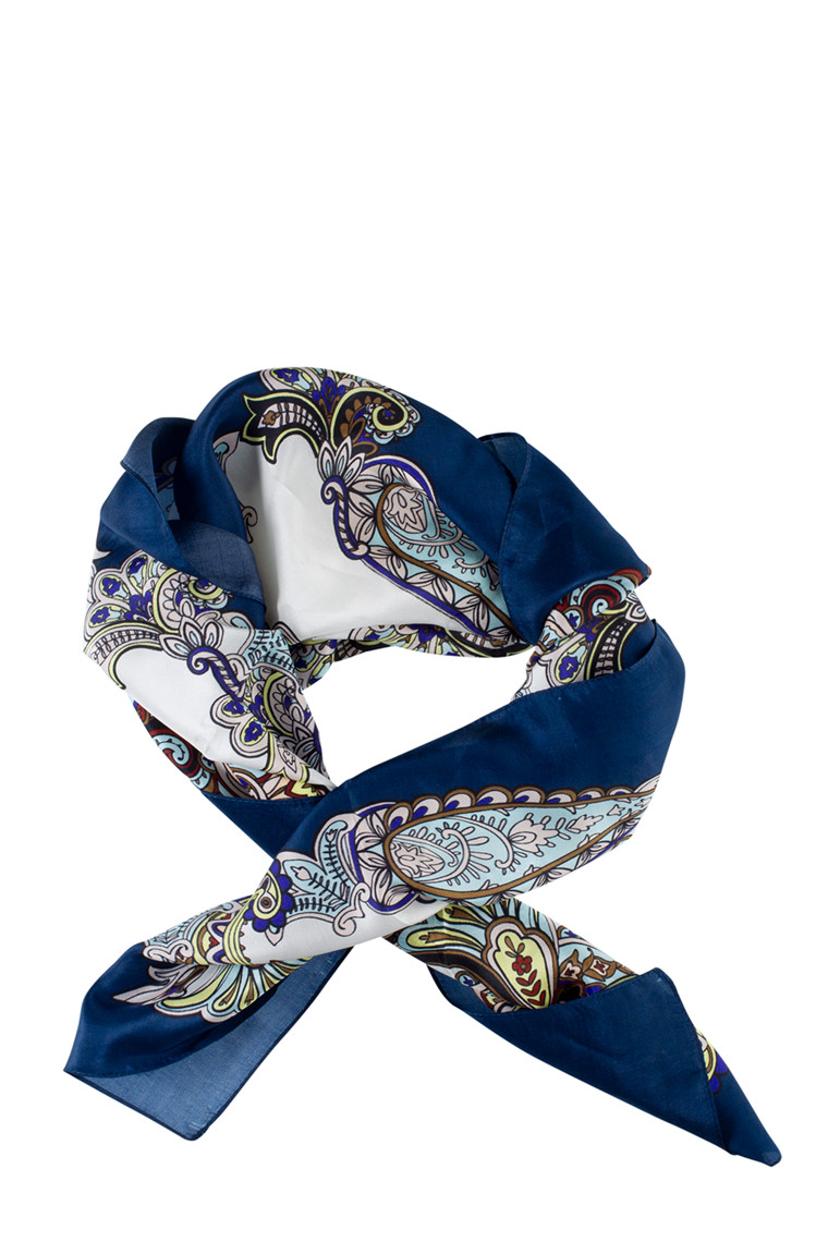 CRÉTON Paisley silke tørklæde