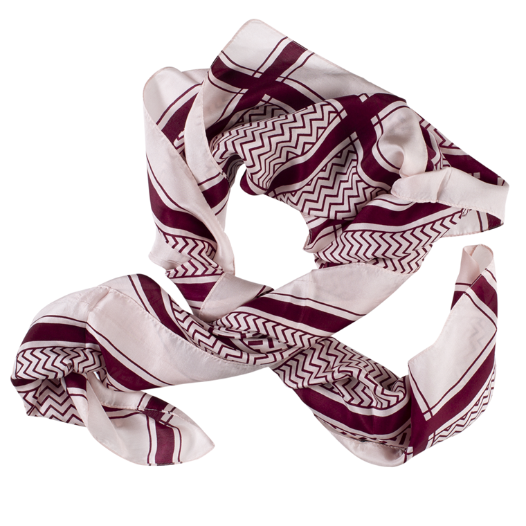 CRÉTON Zig-zag silke tørklæde