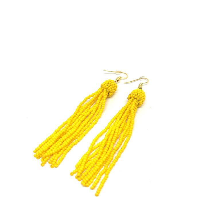 By Bram Øreringe gule perler