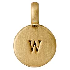 "PILGRIM Pendants ""W"" guld"