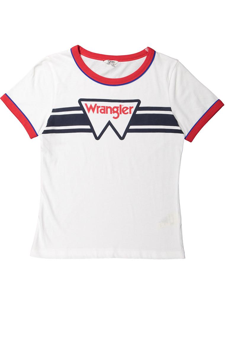 WRANGLER Ringer tee white