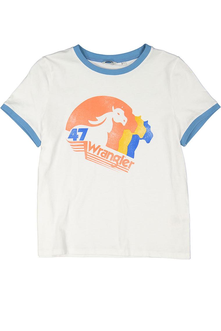 WRANGLER Egret Off White t-shirt