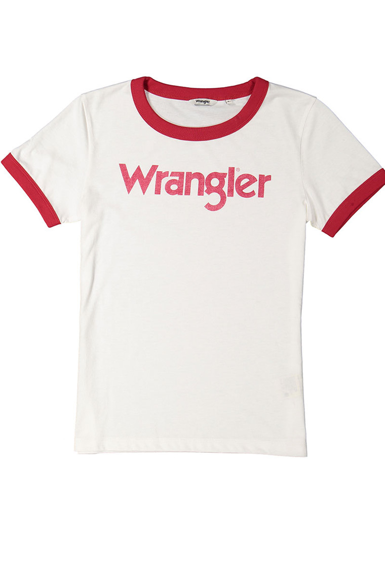 WRANGLER Ringer Off White t-shirt