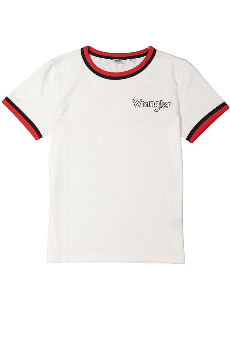 WRANGLER Ringer Egret Off White t-shirt