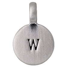 "PILGRIM Pendants ""W"" sølv"