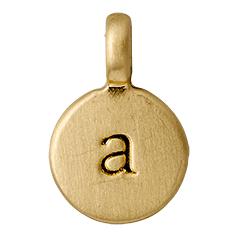 "PILGRIM Pendants ""A"" guld"