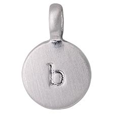 """PILGRIM Pendants """"B"""" sølv vedhæng"""