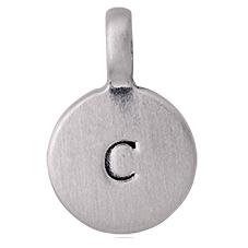 """PILGRIM Pendants """"C"""" sølv vedhæng"""